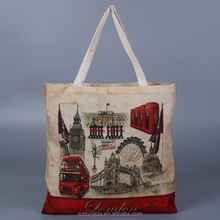 Custom Design Eco Printed Recycle Tote Shopping Organic Cotton Bags