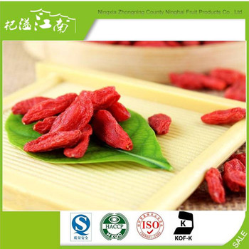 New harvest wholesale dry fruit goji
