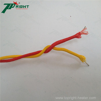 K type thermocouple made up of solid wires or strand wires
