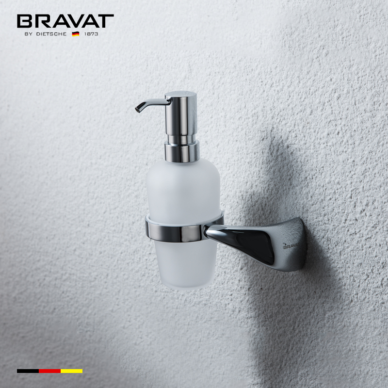 Bathroom Accessories Wall Mounted Soap Dispenser With Holder, View Wall Mounted  Soap Dispenser, BRAVAT Product Details From Bravat (China) GmbH On Alibaba.  ...