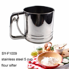 SY-F1009 Baking Tools Stainless Steel Triple Mesh 5 Cup Flour Sifter