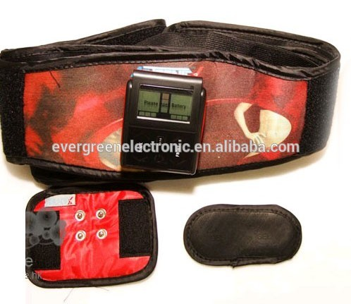 electric low frequency tens stimulate massage belt pulse slimming ems massage-pro belt made in china EG-MB05