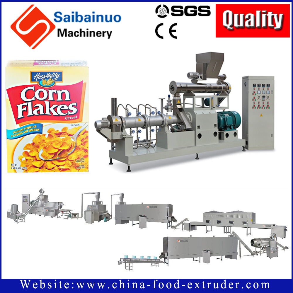 China manufacturer rice snacks machine corn flakes production line with high quality