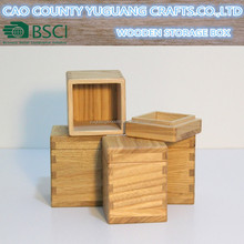 Handmade Wooden tea box Wooden spice box with lid