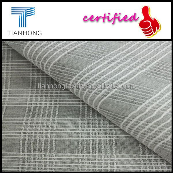 High Denisty Plaid Dobby with Bamboo Textile/Anti-microbial Cotton Bamboo Fabric for Long Sleeves/Yarn Dyed Bamboo Fabric