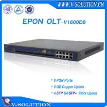layer 3 GEPON EPON OLT with 8 ports optical fiber switch function