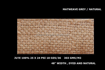 mat weave jute bleached laminated fabric used for weaving mat
