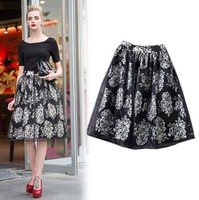 NEW Summer Women Floral Print Organza Skirt TUTU Bubble sexy girls photos with mini Skirt SV004929