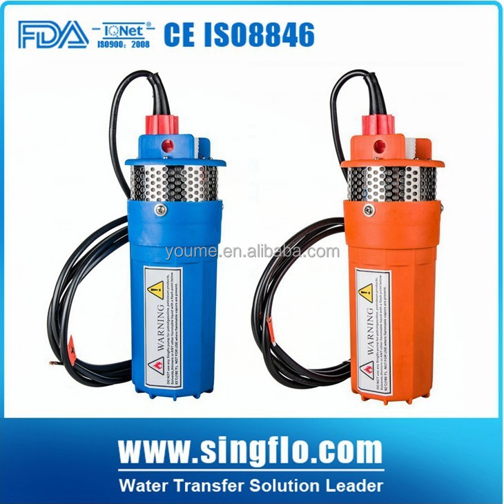 Singflo 6LPM 24 volt solar submersible water pump/solar powered water pump/bore well centrifugal submersible pump