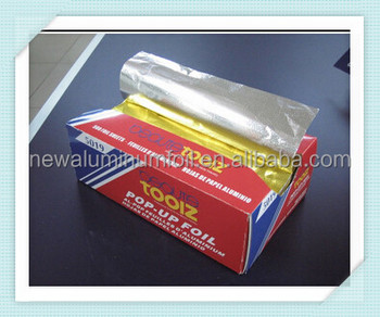 pop-up interfolded aluminum foil food wrap sheet, silver paper 500pcs/box