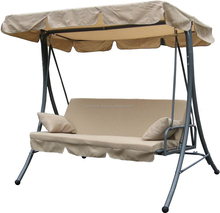 Outdoor swing bed with canopy patio swing chair