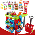 Shopping toys play set supermarket fiscal cash register
