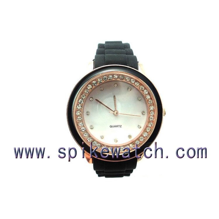 White Diamond Cover Silicon Gems Watch