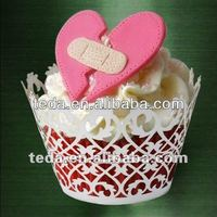 Cupcake wrapper Chrismas cake decoration