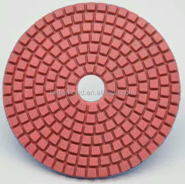Stone hand tools dry/wet diamond 7 inch diamond polishing pad in China