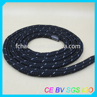 fluorescent rope double braid nylon/pp/polyester rope line
