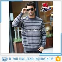 Striped O-Neck Fashion Knit Latest Designs Turtleneck Men Sweater