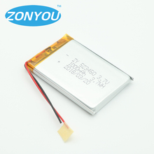 523450 battery 3.7v 1000mah lithium polymer batteries for sound card