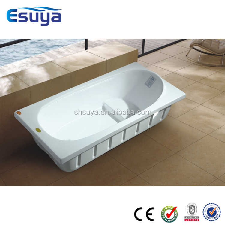 Luxury tubs made in China build in square freestanding bathtub with seat