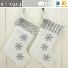 9inch fancy snowing hanging stocking kit's popular cute christmas mini socks