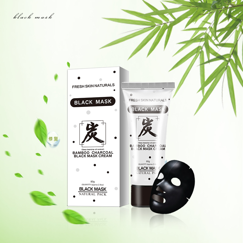 FRESH SKIN NATURALS Bamboo Charcoal Black Mask Cream Beauty Face Cream for Deep Cleansing