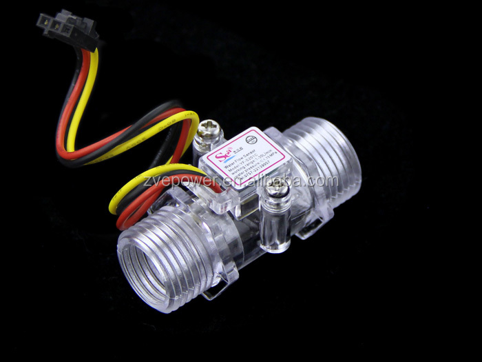 Transparent Water Flow Sensor Switch Flow Range 1-30L / min Pressure 1.75Mpa