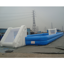High quality certificated inflatable football court, soap soccer filed inflatable soap football pitch