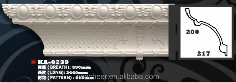 PU Cornice Moulding decorative cost saving building material