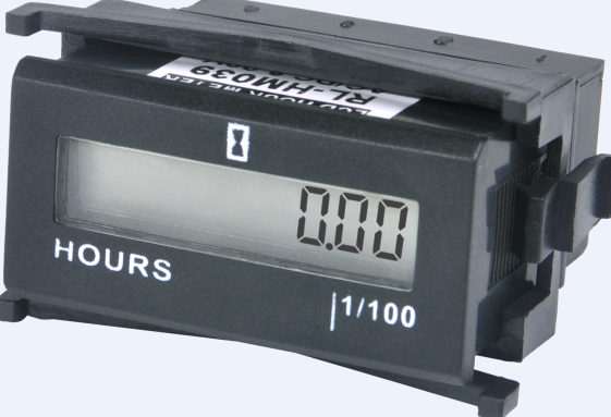 LCD Resettable AC/DC Hour Meter for Vehicles and Lifting Machinery