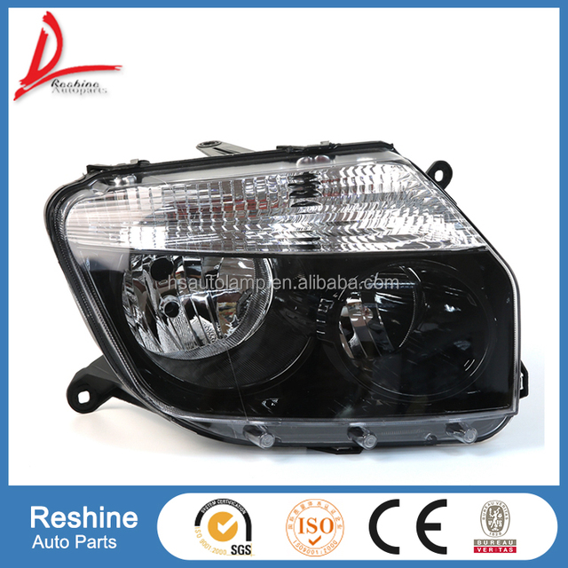 black and original head lamp, auto body parts for Renault Dacia Duster