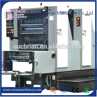 OEM single color used roland offset printing machine / rubber hydraulic hot press vulcanizer