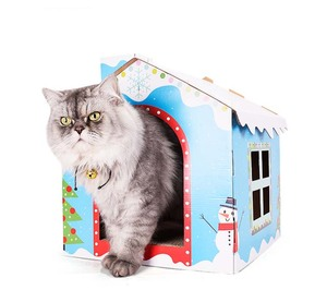 New designed cardboard cat house cat scratcher house