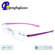 2014 new style women rimless reading glasses