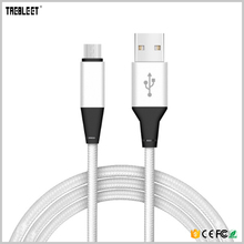 Free Sample Custom Logo Nylon Braided Micro USB Charging Data Cable For Mobile Phone