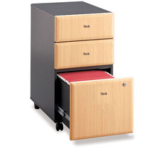 Office Mobile Furniture kd home furniture mobile small box mobile iron pedestal lockable 4 drawer mobile cabinet with wheels