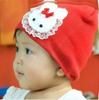 New Christmas Princess Rabbit Girl Baby Hat With Wig For Hairwear For Wholesale Girls Accessories HA81206-41