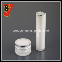 50ml Gold Color Acrylic Bottle with Pump for Cosmetic Packaging