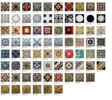 encaustic with different designs patchwork handmade porcelain tiles