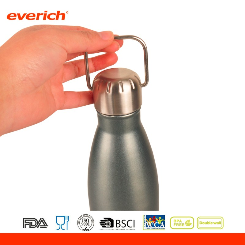Cola shaped stainless steel vacuum insulated water bottle for hot and cold drinks