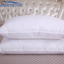 China supplier small and soft goose down feather hotel german white sleeping pillow