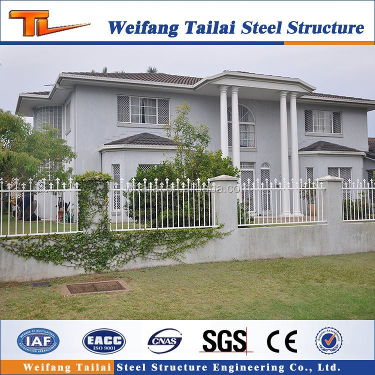 modern customized prefab light steel structure villa