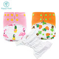 happyflute adjustable Cloth Nappy pocket cloth diaper 3D Leak Prevention channel nappy OEM print