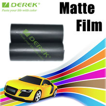 Hot sale Derek satin black vinyl wrap for car body protection with import glue size 1.52*30m