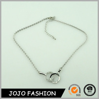 New Fashion Gift Wholesale Dual Ring Pendant Necklace
