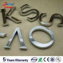 Back lighted metal stainless steel 3d alphabet mirror letters