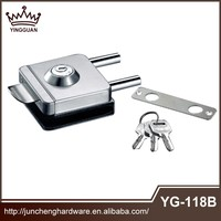 China Alibaba Sale by bulk 201 304 Ss Mirror thin door lock sliding door hook lock