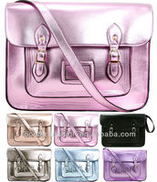 Ladies Designer Vintage Crossbody School Bag for iPad Metallic Women Satchel Handbag