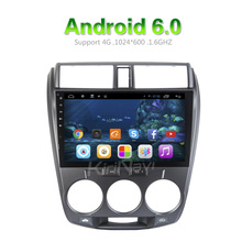 "KiriNavi WC-HC1008 10.2"" Android 6.0 car audio gps navigation system for honda city 2008 - 2012 touch screen"