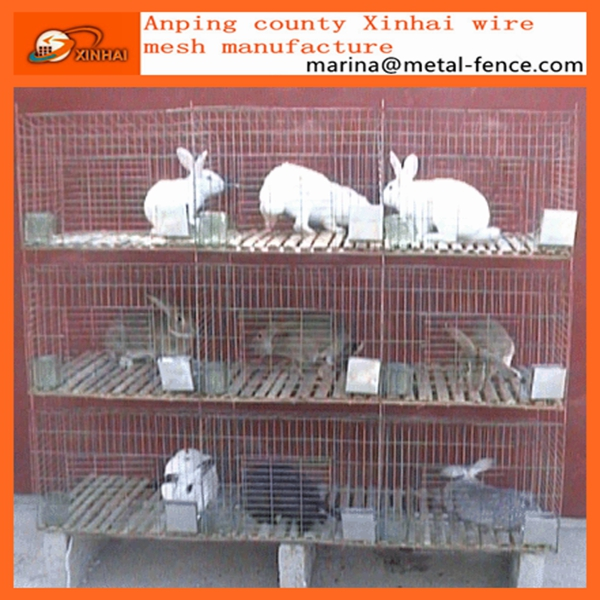 2016 Cheap Hot Dip Galvanized Aluminum Welded Commercial Rabbit/Dog Farming Cages Wire Mesh For Sale