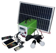 mini portable home solar power system 10W 7AH portable solar generator 20W 9AH complete kit for sale
